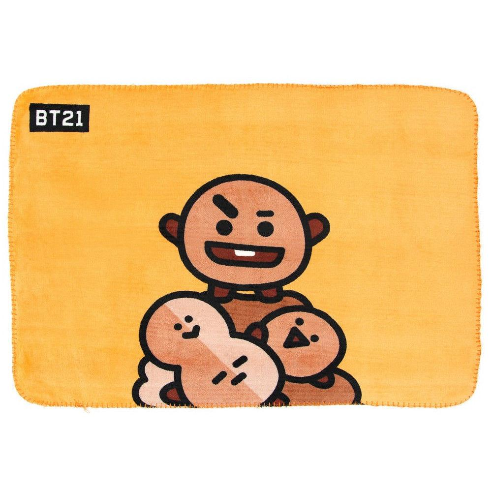 BT21 Thick Flannel Blanket- SHOOKY Sleep Lunar Noona