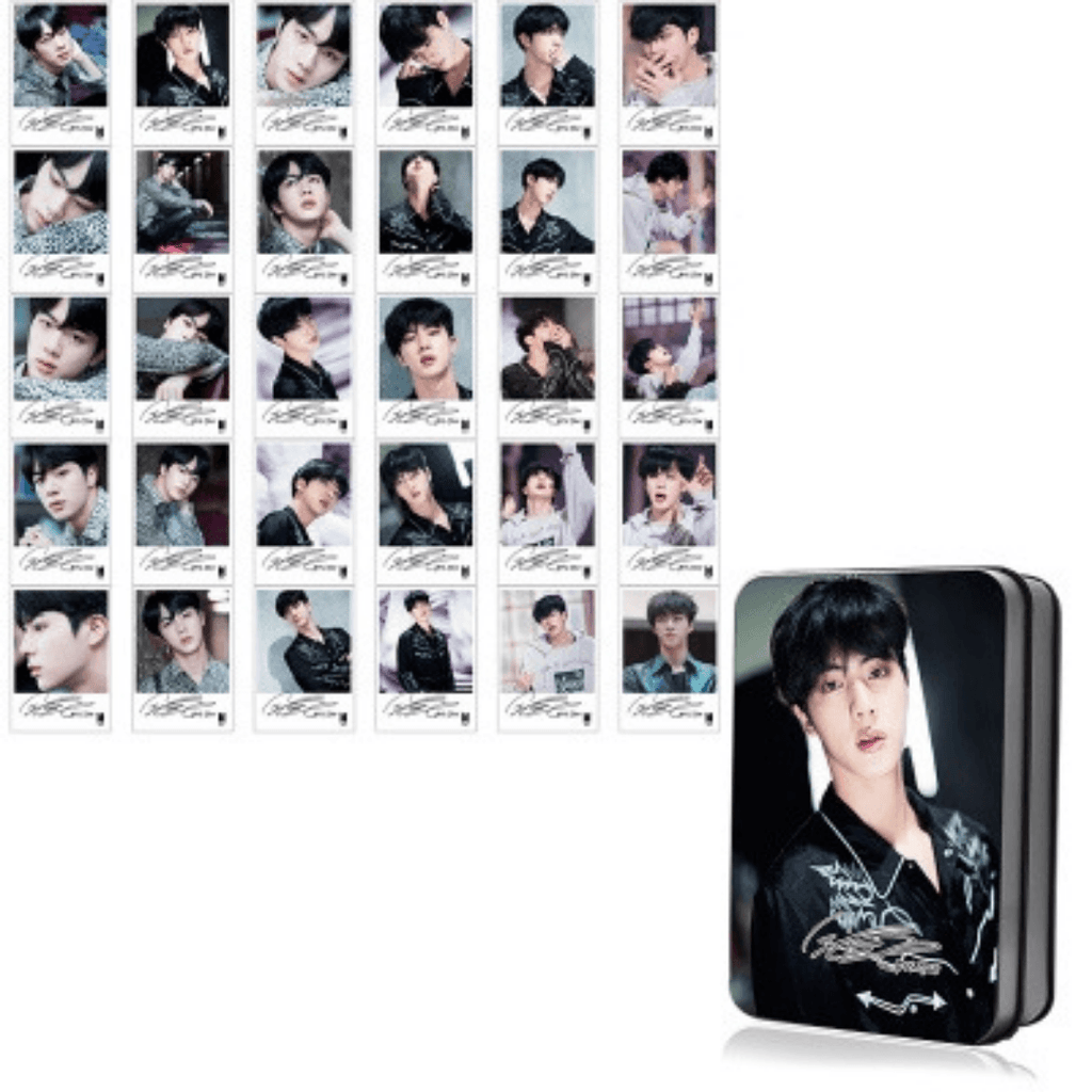 "BTS Love Yourself: Tear ""Fake Love Photoshoot"" Member 30 PC Signed Photocards- JIN Photocard Lunar Noona"