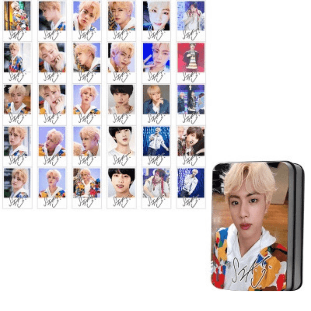 "BTS Love Yourself: Answer ""Idol Photoshoot"" Member 30 PC Signed Photocards- JIN Photocard Lunar Noona"