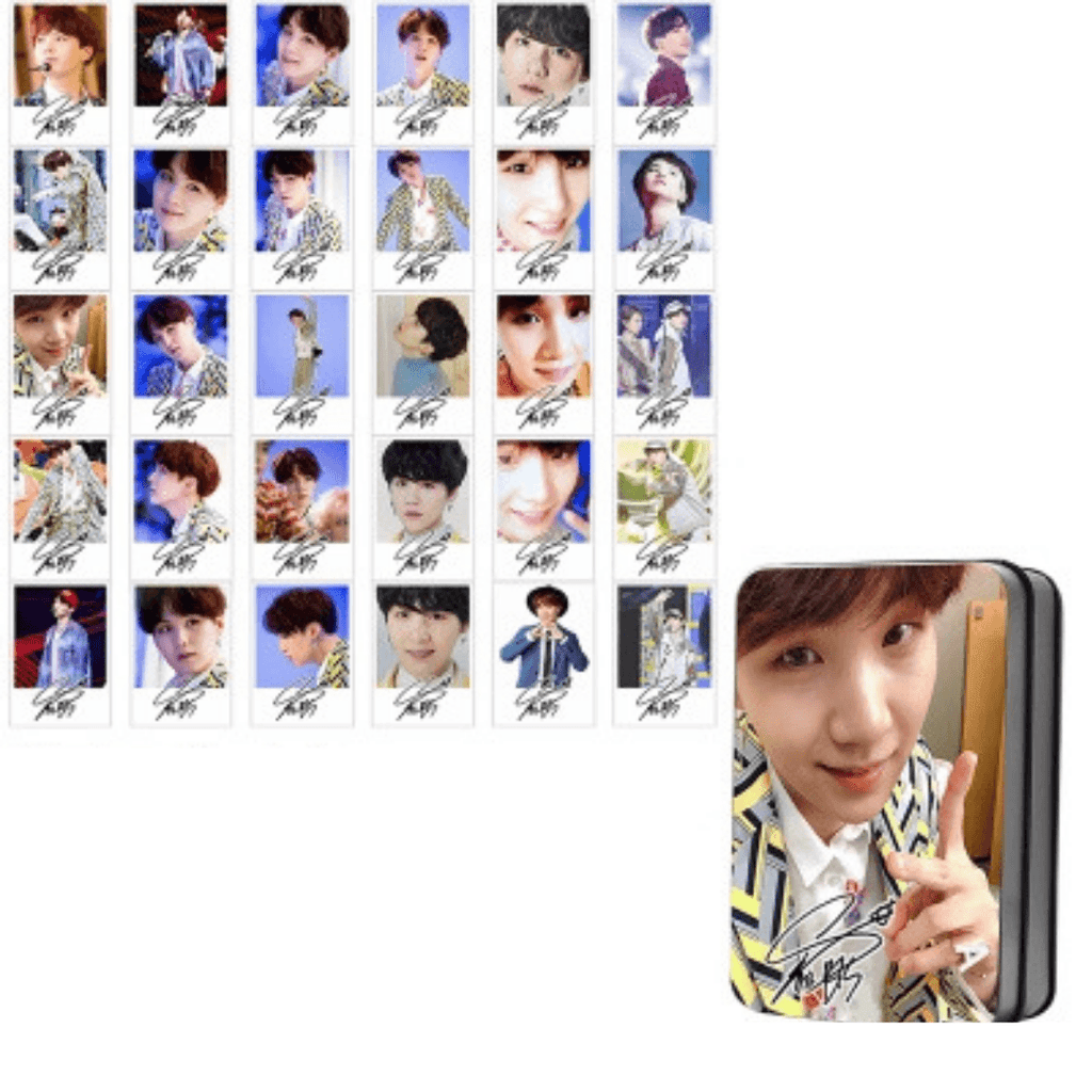 "BTS Love Yourself: Answer ""Idol Photoshoot"" Member 30 PC Signed Photocards- SUGA Photocard Lunar Noona"