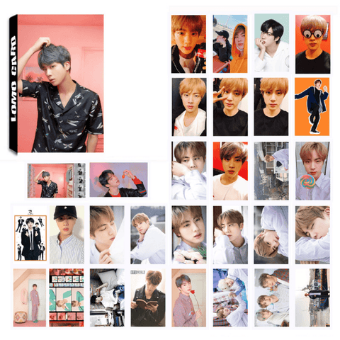 "BTS Map Of The Soul: Persona ""Concept Photos"" Member 30 PC LOMO Photocards- JIN Photocard Lunar Noona"