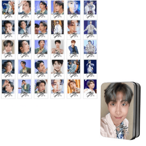 "BTS Love Yourself: Answer ""Idol Photoshoot"" Member 30 PC Signed Photocards- RM Photocard Lunar Noona"