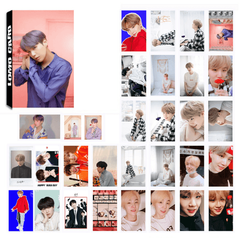 "BTS Map Of The Soul: Persona ""Concept Photos"" Member 30 PC LOMO Photocards- SUGA Photocard Lunar Noona"