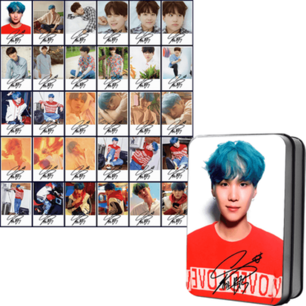 "BTS Love Yourself: Her ""Concept Photos"" Member 30 PC Signed Photocards- SUGA Photocard Lunar Noona"