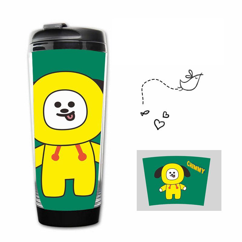 BT21 Double Wall Acrylic Tumblr Bottle- CHIMMY Bottles Lunar Noona