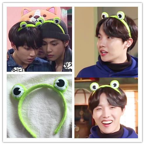 BTS Member Worn Green Character Headband Accessories Lunar Noona