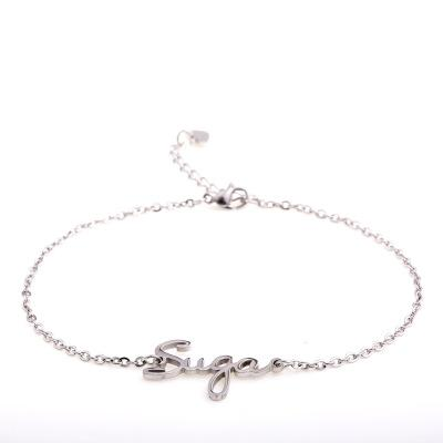 BTS Thin Chained Member Bracelet- SUGA Jewelry Lunar Noona