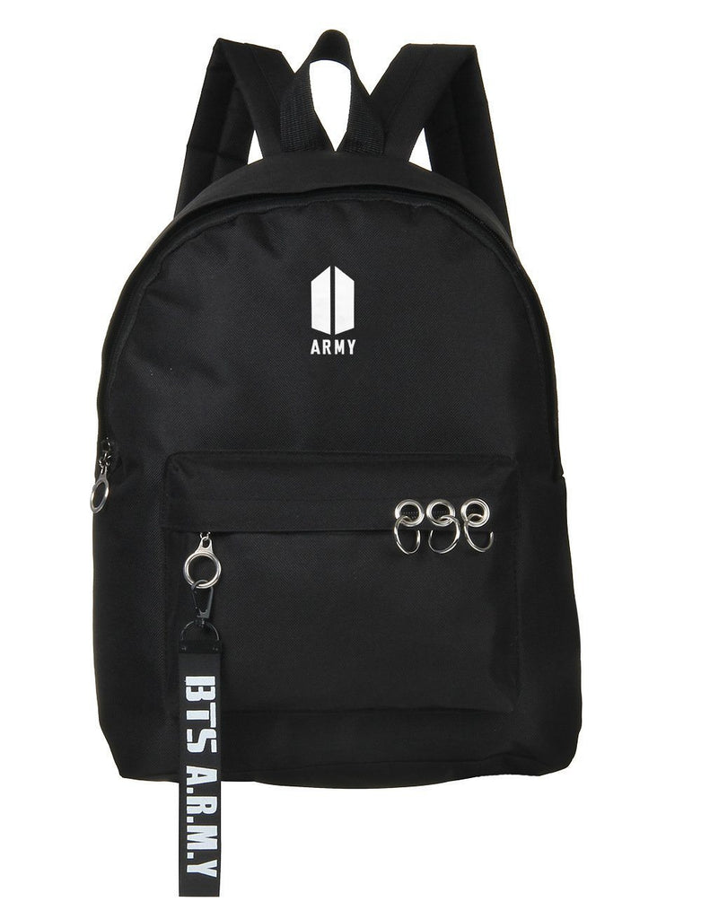 BTS ARMY Triple Ring School Backpack Backpack Lunar Noona Black