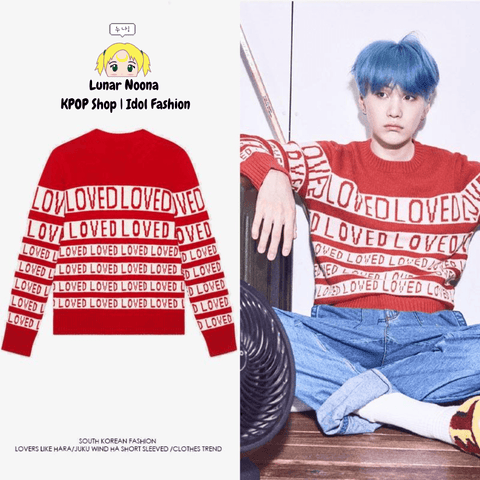 BTS Loved Sweater- SUGA Sweaters Lunar Noona
