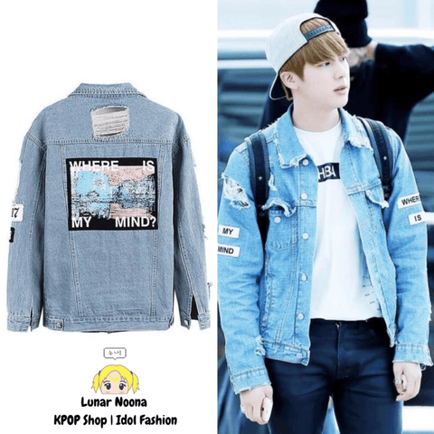 BTS Where Is My Mind Denim Jacket- JIN Hoodies Lunar Noona