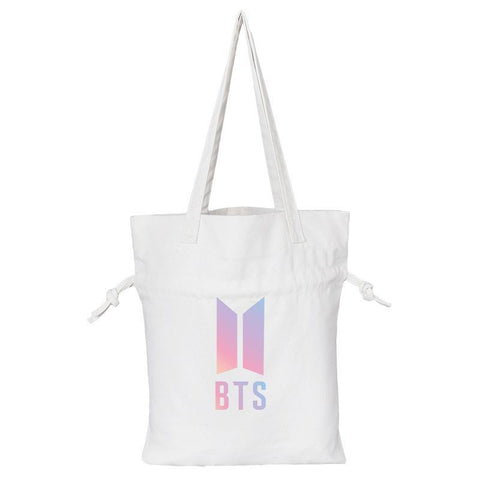 BTS Love Yourself Logo Tote Bag Backpack Lunar Noona White