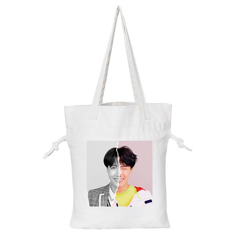 "BTS Love Yourself: Answer ""Concept Photo L Version"" Member Tote Bag- J-HOPE Backpack Lunar Noona White"