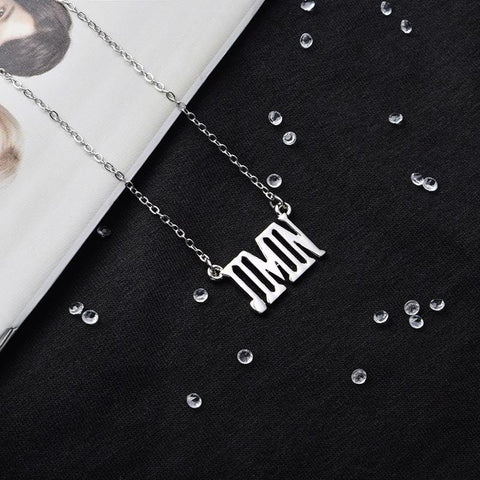BTS Member Name Necklace- JIMIN Jewelry Lunar Noona