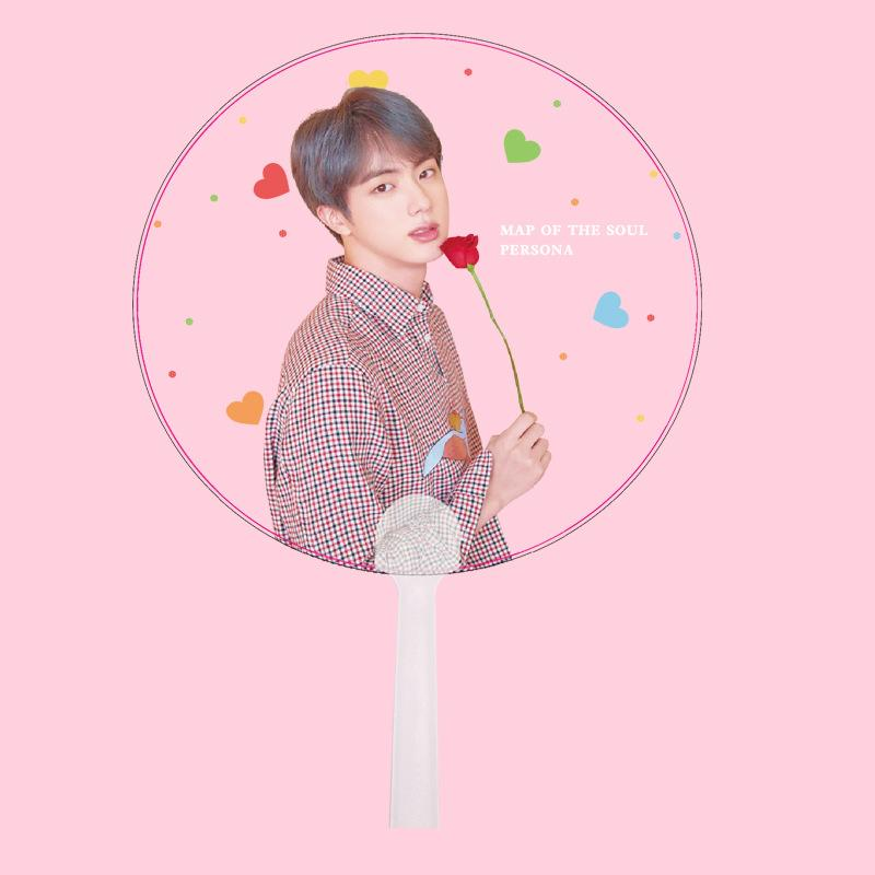 "BTS Map Of The Soul: Persona ""Roses"" Member Transparent Fan- JIN Accessories Lunar Noona"