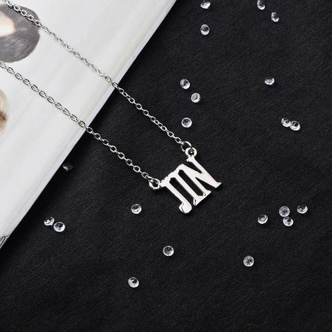 BTS Member Name Necklace- JIN Jewelry Lunar Noona