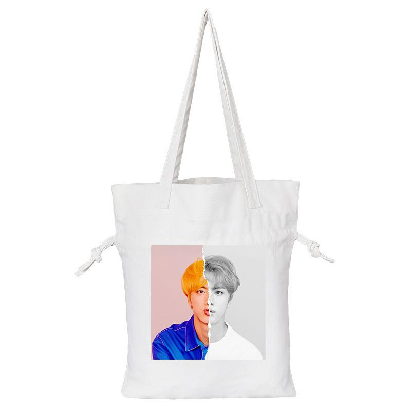 "BTS Love Yourself: Answer ""Concept Photo L Version"" Member Tote Bag- JIN Backpack Lunar Noona White"