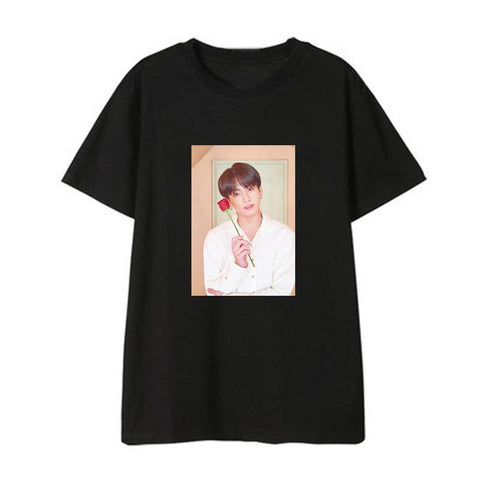 "BTS Map Of The Soul: Persona ""Roses Photoshoot"" Member T-Shirt- JUNGKOOK"