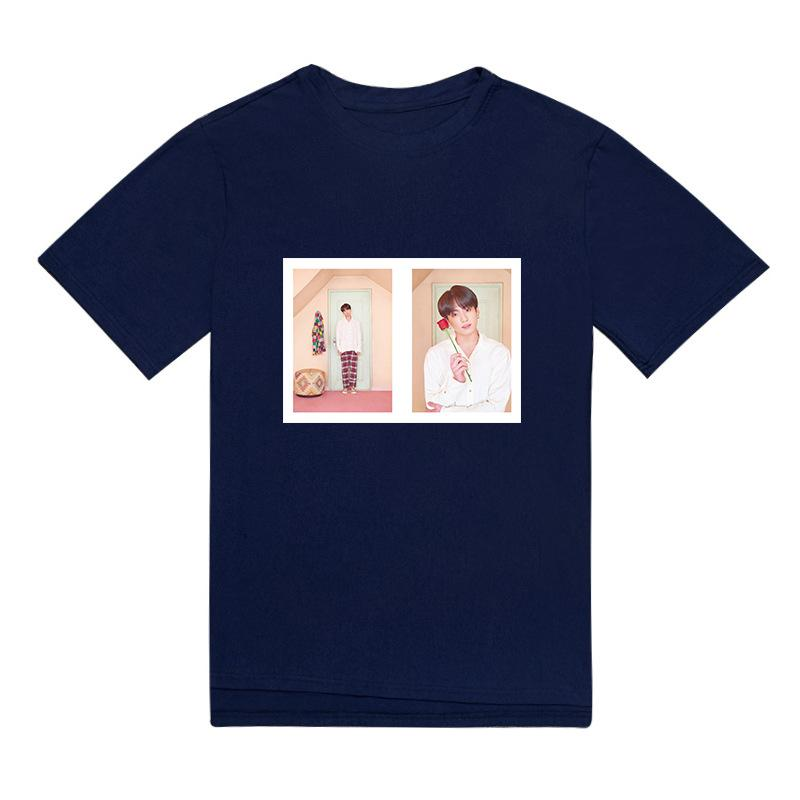"BTS Map Of The Soul: Persona ""Version 3 Photoshoot"" Member T-Shirt- JUNGKOOK Short Lunar Noona Black M"