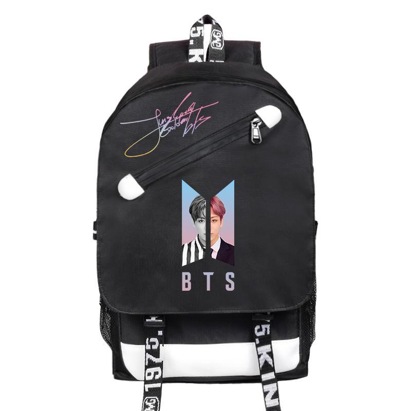 BTS Love Yourself USB Charging Backpack Backpack Lunar Noona JUNGKOOK