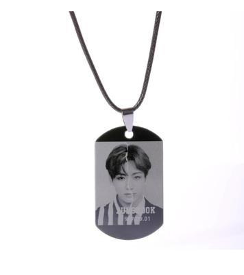 BTS Love Yourself: Answer Member Dog Tag- JUNGKOOK Jewelry Lunar Noona