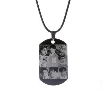 "BTS Love Yourself: Answer ""Idol BTS Logo"" All Member Dog Tag Jewelry Lunar Noona"