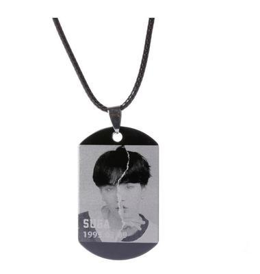 BTS Love Yourself: Answer Member Dog Tag- SUGA Jewelry Lunar Noona
