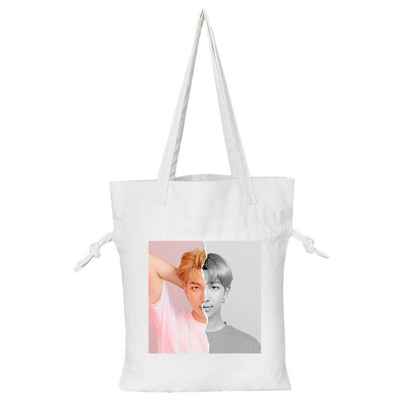 "BTS Love Yourself: Answer ""Concept Photo L Version"" Member Tote Bag- RM Backpack Lunar Noona White"