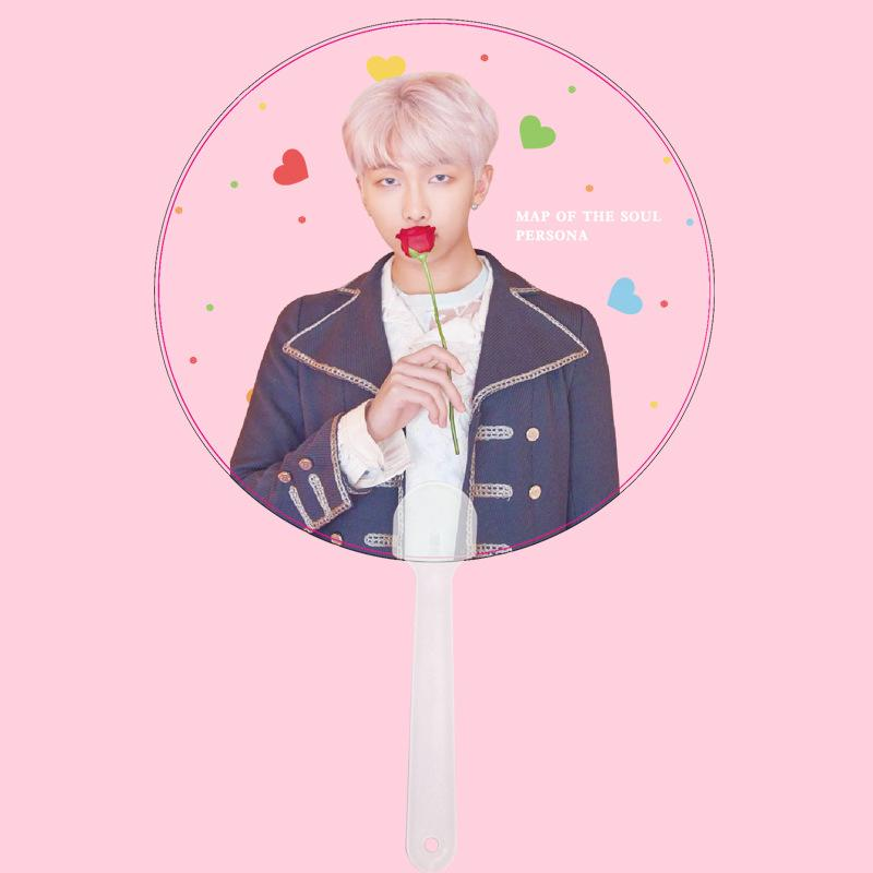 "BTS Map Of The Soul: Persona ""Roses"" Member Transparent Fan- RM Accessories Lunar Noona"