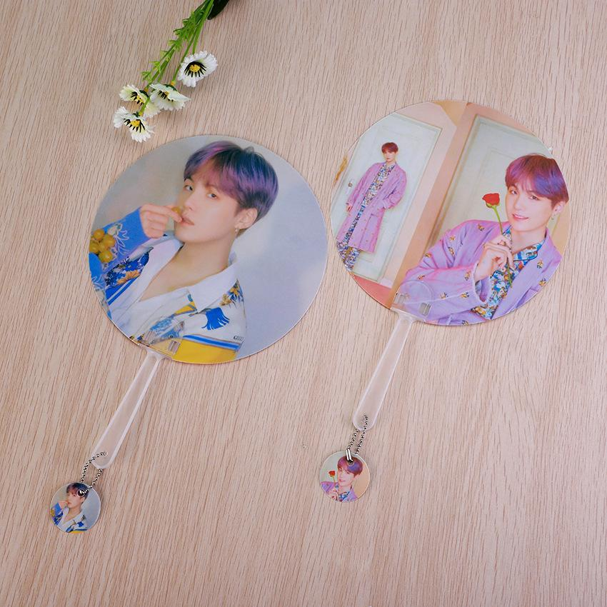 "BTS Map Of The Soul: Persona ""Version 3 & 4"" Member Chained Fan- SUGA Accessories Lunar Noona"