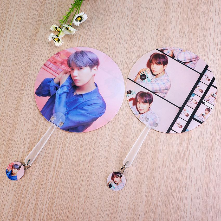 "BTS Map Of The Soul: Persona ""Version 1 & 2"" Member Chained Fan- SUGA Accessories Lunar Noona"