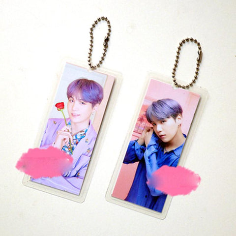 "BTS Map Of The Soul: Persona ""Persona Photoshoot"" Member Keychain- SUGA Keychain Lunar Noona"