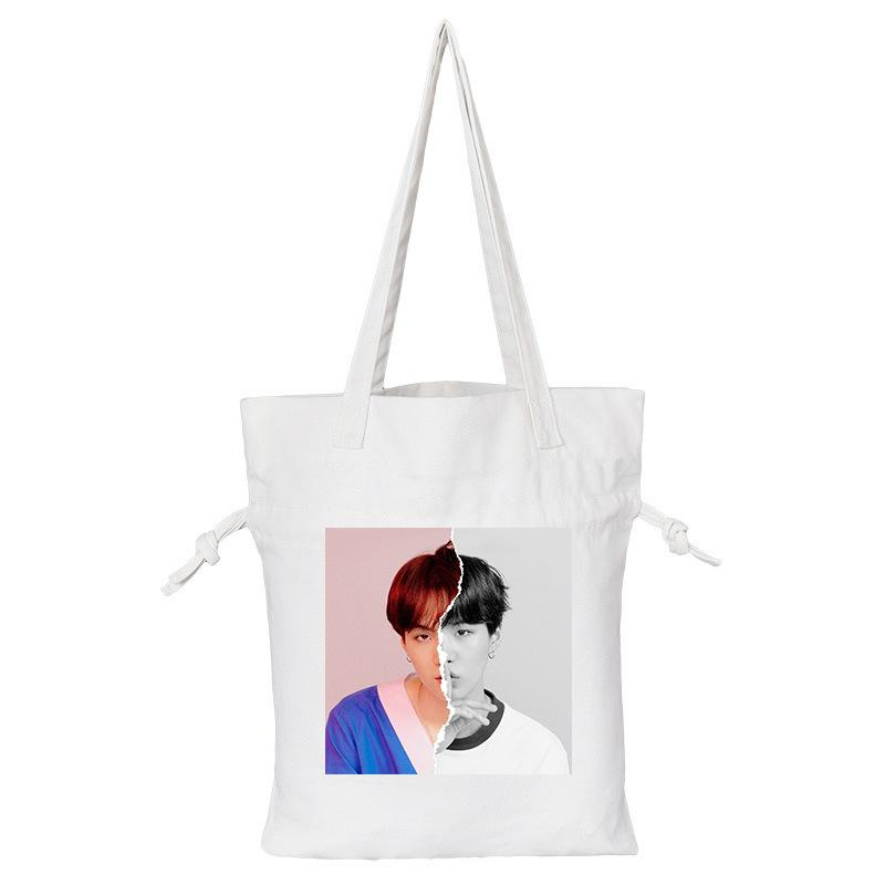"BTS Love Yourself: Answer ""Concept Photo L Version"" Member Tote Bag- SUGA Backpack Lunar Noona White"