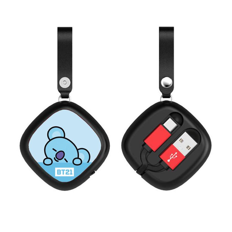 BT21 Retractable Square Charging Cable- KOYA Phone Accessories Lunar Noona Apple