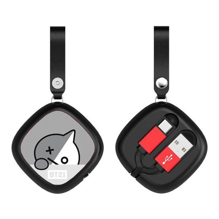 BT21 Retractable Square Charging Cable- VAN Phone Accessories Lunar Noona Apple