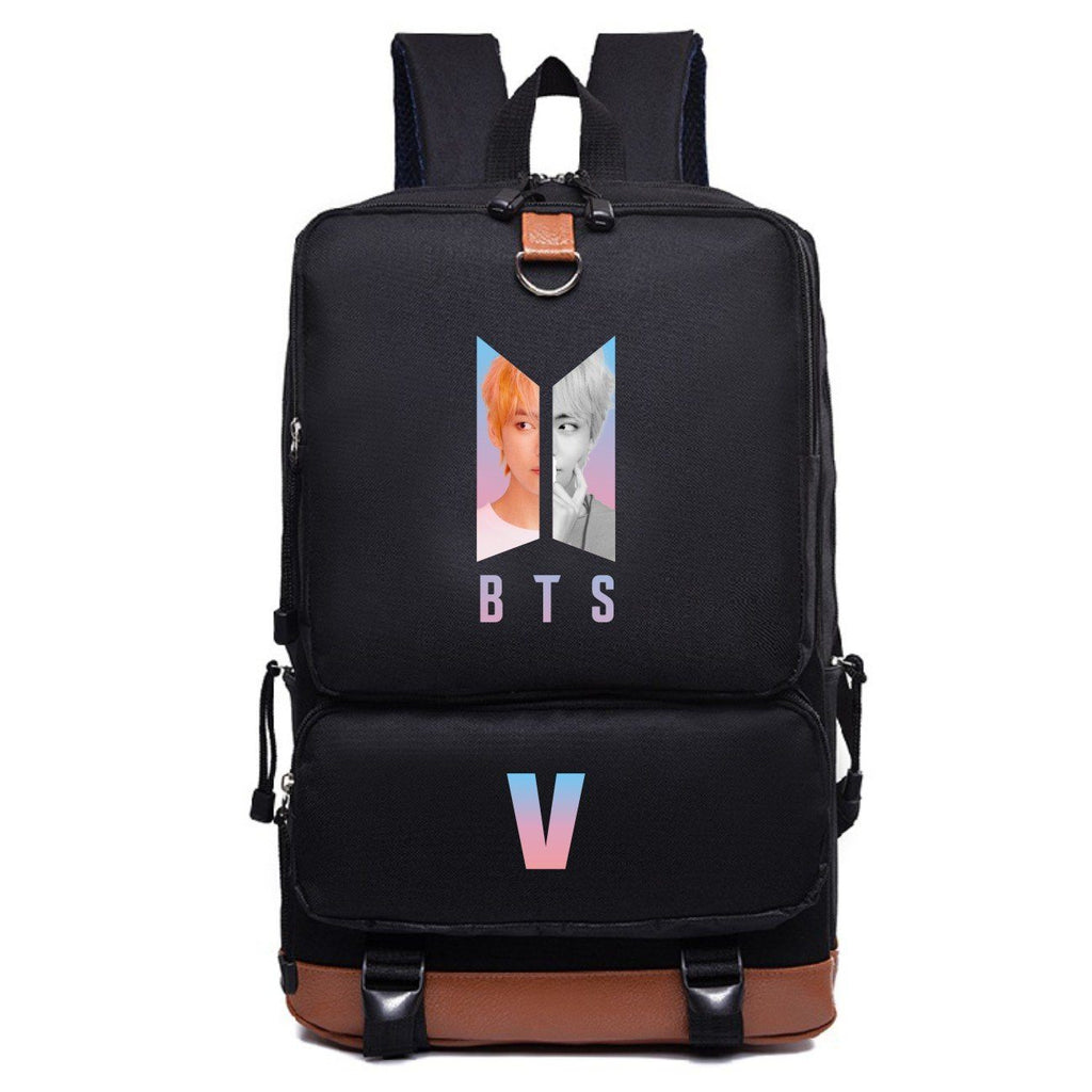 BTS Love Yourself: Answer Double Buckle High Capacity Member Backpack- V Backpack Lunar Noona
