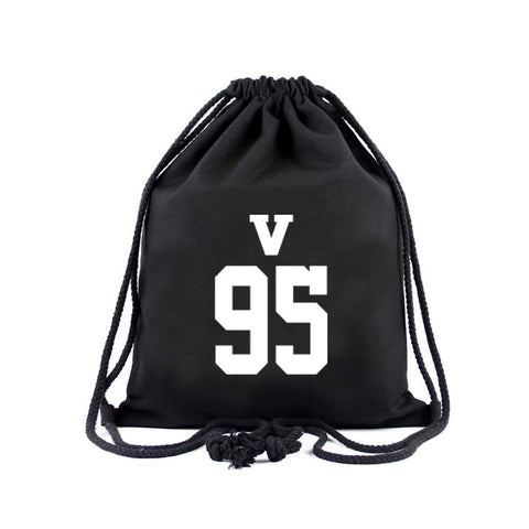 BTS Member Drawstring Bag- V Backpack Lunar Noona Black