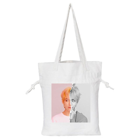 "BTS Love Yourself: Answer ""Concept Photo L Version"" Member Tote Bag- V Backpack Lunar Noona White"