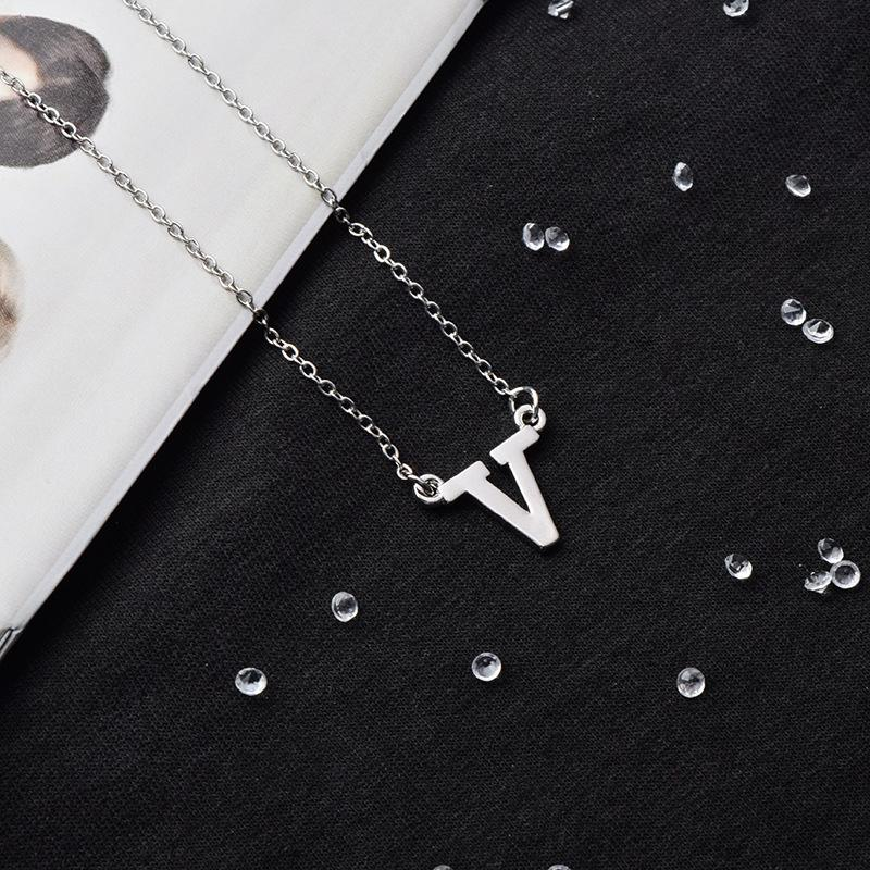 BTS Member Name Necklace- V Jewelry Lunar Noona