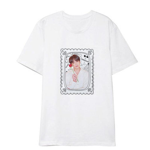 "BTS Map Of The Soul: Persona ""Roses Framed"" Member T-Shirt- JUNGKOOK"