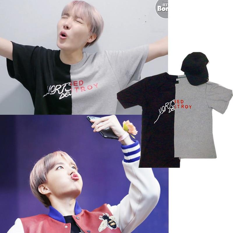 BTS Yort Set Destroy T-Shirt- J-Hope Short Lunar Noona