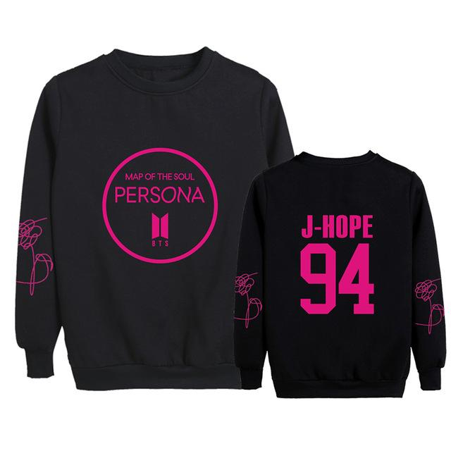 BTS Map Of The Soul: Persona Logo Member Sweater- J-HOPE Sweaters Lunar Noona Black L
