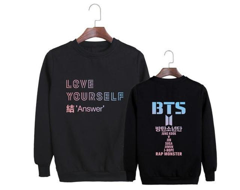 "BTS Love Yourself: ""Answer"" All Member Sweater Sweaters Lunar Noona Black XXL"