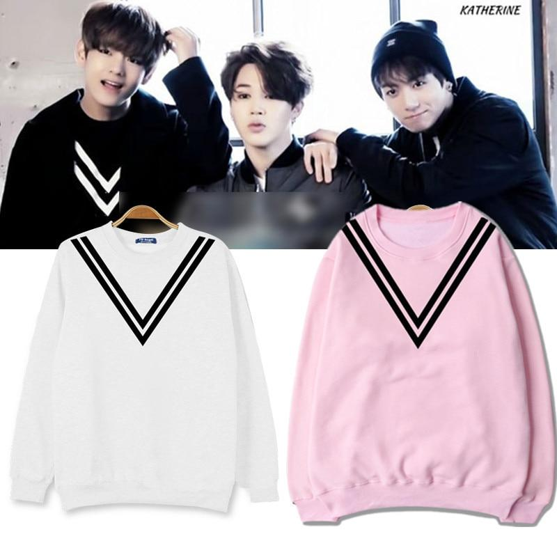BTS V Cut Striped Sweater- V Sweaters Lunar Noona