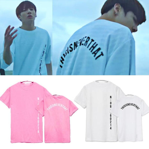 BTS This Is Never That T-Shirt- JUNGKOOK Short Lunar Noona