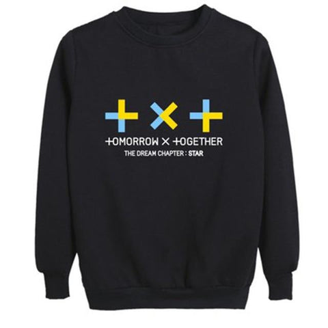 "TXT Tomorrow X Together ""TXT Logo"" Sweater Sweaters Lunar Noona Black L"
