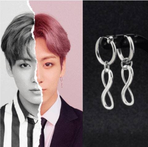 "BTS Love Yourself: Answer ""Concept Photo L Version"" Earring- JUNGKOOK Jewelry Lunar Noona"