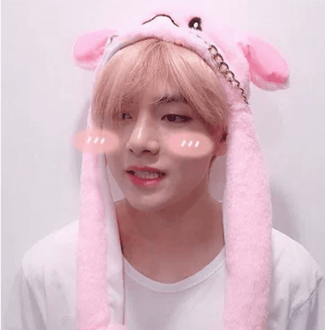 BTS Pink Rabbit Hat- V Hats Lunar Noona