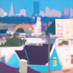 "San Francisco Skyline (30"" x 30"")"
