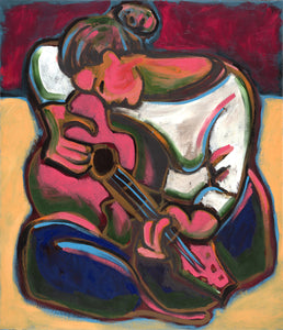"Leah Plays Guitar (40"" x 48"")"