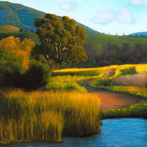 "Cal Poly Fishing Hole (40"" x 40"")"